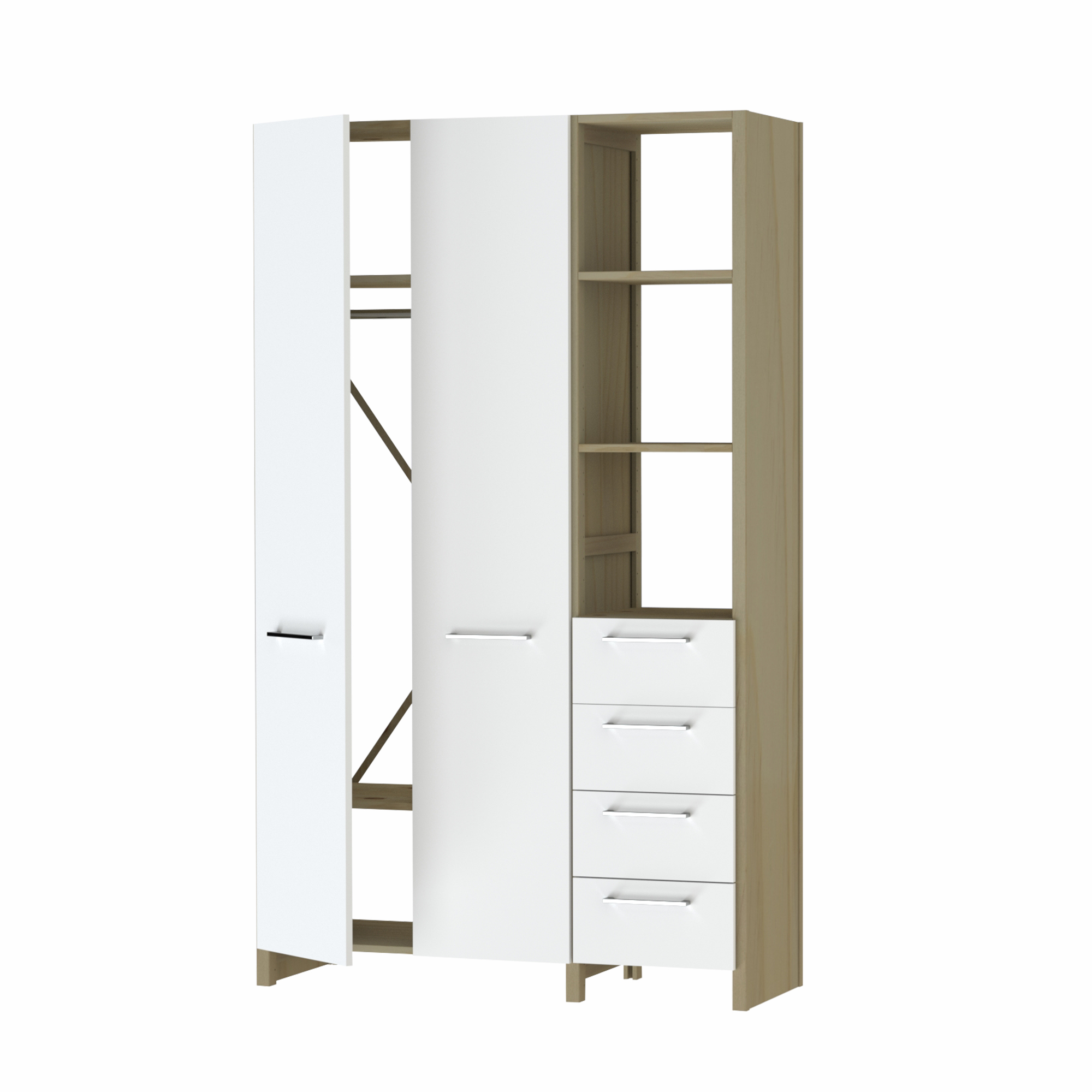 Cupboard Wardrobe with Drawers